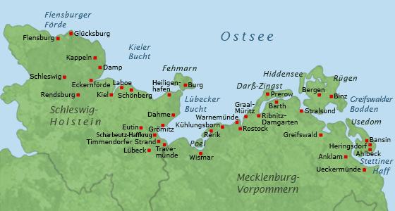 karte ostsee deutschland schleswig holstein Geographie & Fakten zur Ostsee: Von der Entstehung bis zur